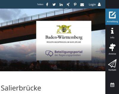 Screenshot RP Beteiligngsportal Salierbrücke