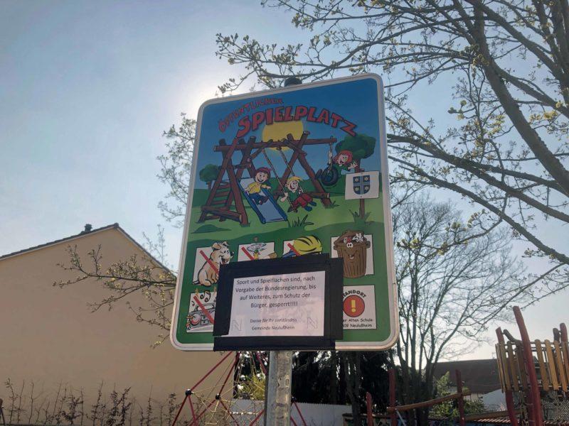 Spielplatz Point gesperrt 2020-03