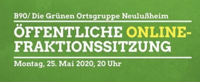 öffentliche online-Fraktionssitzung Mai 2020