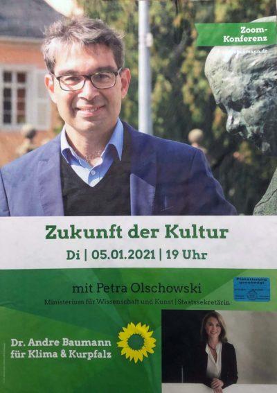 Zukunft der Kultur mir Petra Olschowski und andré Baumann 5. Januar 2021