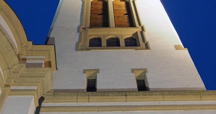 Glockenturm der evangelischen Kirche Neulussheim
