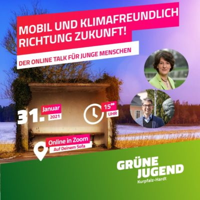 Grüne Jugend Online-Talk mit Landtagskandidaten Baumann und Staatssekretärin Splett 31-01-2021