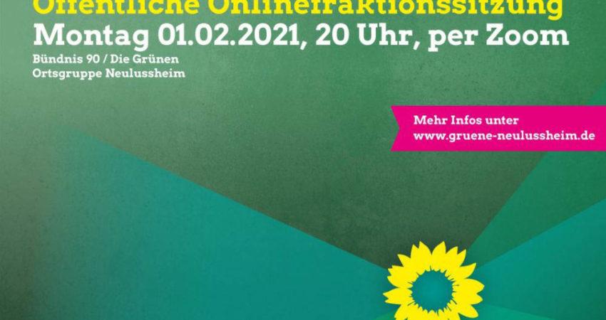 Sharepic öffentliche Fraktionssitzung am 1. Februar 2021