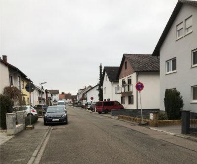 Carl-Benz-Straße im Februar 2021