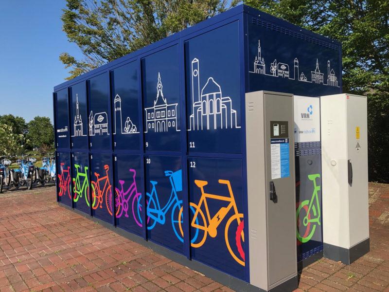 Fahrradboxen am Hockenheimer Bahnhof