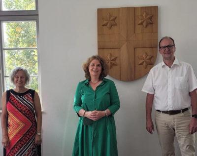 Nicole Heger beim Neulußheimer Bürgermeister 2021-09-07
