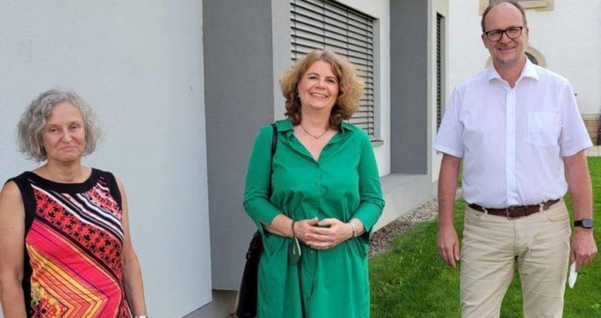 Nicole Heger und Monika Schroth zu Besuch bei Bürgermeister Gunther Hoffmann 14-09-2021